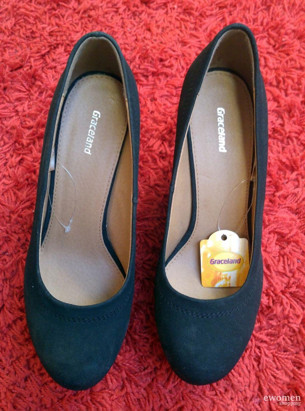 Fekete női cipő eWomen Shopping
